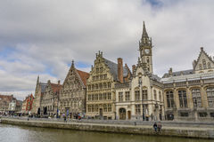 Historic city center, Gent Royalty Free Stock Images