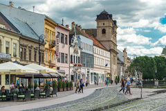 Historic city center in Kosice, Slovakia Royalty Free Stock Images