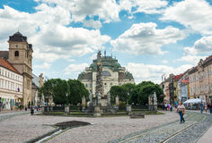 Historic city center in Kosice, Slovakia Stock Photos