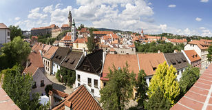 Historic city center of Krumlov. Stock Image