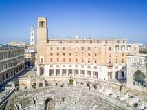 Historic city center of Lecce, Puglia, Italy Royalty Free Stock Photos