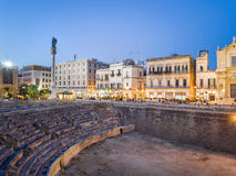 Historic city center of Lecce, Puglia, Italy Stock Photo