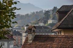 Historic city center of Lucerne, Switzerland stock image