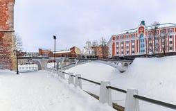 Historic city center of Nizhny Novgorod in Russia Royalty Free Stock Photos