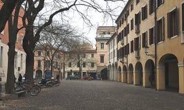 The historic city center of Padua stock photos