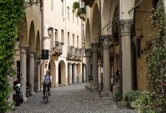 The historic city center of Padua. Stock Photos
