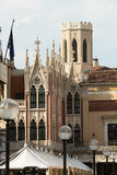 The historic city center of Padua. Royalty Free Stock Images