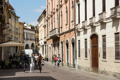 The historic city center of Padua. PADUA, ITALY - MAY 3, 2016: The historic city center of Padua. Italy Stock Images