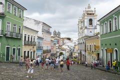Historic City Center of Pelourinho Salvador Brazil Stock Image