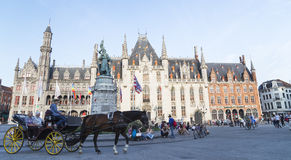 The historic city centre of Bruges i Stock Photos