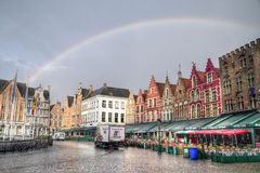 The historic city centre of Bruges i Royalty Free Stock Image