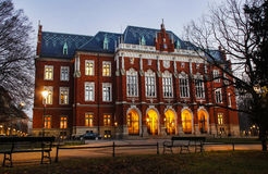 Historic city centre of Krakow by night Royalty Free Stock Photo