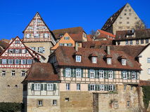 Historic city centre facade - Fachwerkhaus Royalty Free Stock Photography