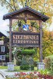 Historic city centre of Szczawnica,  XIX century wooden architec. Historic city centre of Szczawnica, resort town in Nowy Targ County in Lesser Poland Royalty Free Stock Photo
