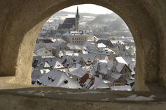 The historic city of Cesky Krumlov Royalty Free Stock Photos