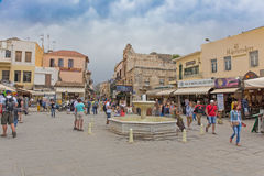 The historic city of Chania. stock photo