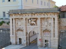 A historic city gate in Zadar in Croatia Stock Images