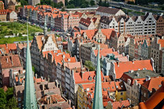 Historic city of Gdansk Royalty Free Stock Images