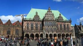 Historic city hall in Bremen, Germany stock video