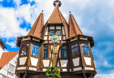 Historic City Hall in the Michelstadt, Odenwald, built the 1484th Royalty Free Stock Photos