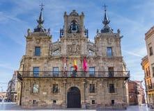 Historic city hall on the Plaza Mayor of Astorga. Spain Stock Photos