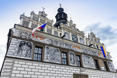 Historic city hall in Stribro Royalty Free Stock Photo