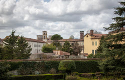 Historic city of Lucca, Italy. Lucca is located in Tuscany and attracts many tourists every year Royalty Free Stock Photos