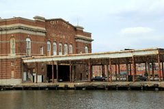 Historic City Pier, Fells Point, Maryland,March,2015 Royalty Free Stock Images