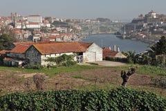 Historic city of Porto with the Dom Luis bridge. View of the historic city of Porto with the Dom Luis bridge stock image