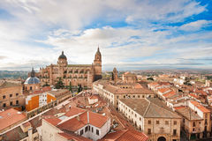 Historic city of Salamanca at sunrise, Castilla y Leon, Spain Stock Images
