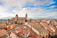Historic city of Salamanca at sunrise, Castilla y Leon, Spain Stock Images