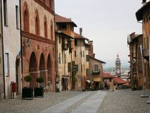 Historic city of Saluzzo Royalty Free Stock Images