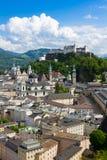 Historic city of Salzburg with Hohensalzburg Fortress, Salzburger Land, Austria Stock Photos