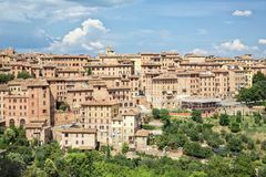 The historic city of Siena in Tuscany Stock Image