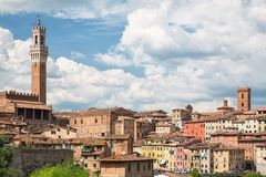 The historic city of Siena in Tuscany Stock Images