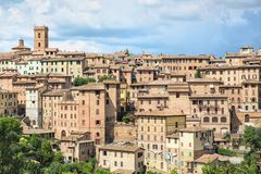 The historic city of Siena in Tuscany Stock Photography
