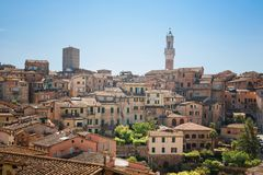 The historic city of Siena in Tuscany Royalty Free Stock Image
