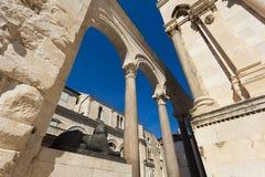 Historic city of Split, Diocletian Palace, Split. Dalmatia, Croatia Royalty Free Stock Photography