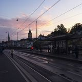 Historic City Sunset Zurich Royalty Free Stock Images