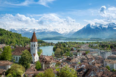 The historic city of Thun, in the canton of Bern in Switzerland Royalty Free Stock Photo