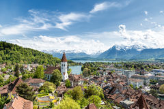 The historic city of Thun, in the canton of Bern in Switzerland. Stock Image
