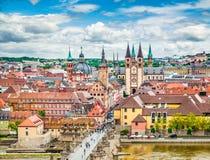 Historic city of Würzburg, Bavaria, Germany Stock Photography