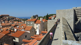 Historic city wall of Dubrovnik. Stock Photo