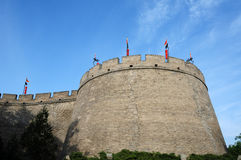 Historic city wall of Xian, China Royalty Free Stock Photos