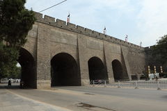 The historic City Wall of Xian Royalty Free Stock Images