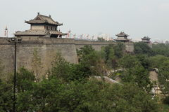 The historic City Wall of Xian Royalty Free Stock Photography