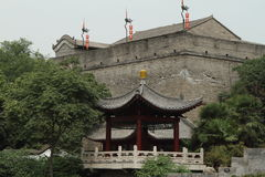 The historic City Wall of Xian Royalty Free Stock Image