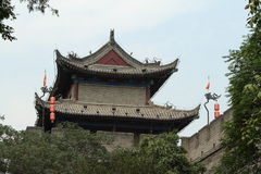 The historic City Wall of Xian Stock Image