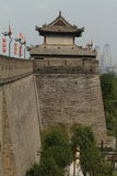 The historic City Wall of Xian Royalty Free Stock Photos