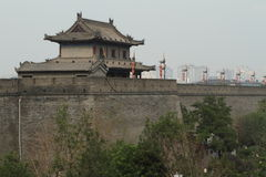 The historic City Wall of Xian Royalty Free Stock Photo